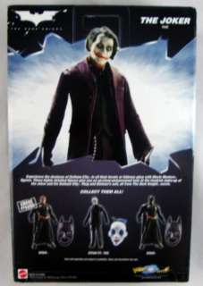 The Dark Knight Movie Masters The Joker Action Figure Mattel MIP