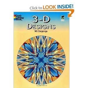 3 D Designs (Dover Design Coloring Books) [Paperback] Wil