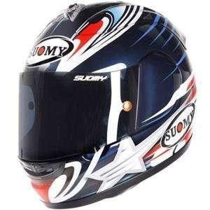 Suomy Excel Dovizioso Helmet   Large/Deep Blue Automotive