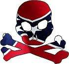 Rebel Flag Skull Crossbones Style 1 Vinyl Sticker Decal confederate x