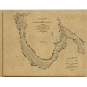 1862 Civil War map Potomac River to Chesapeake Bay  Home