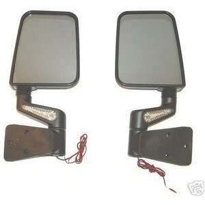 Jeep YJ TJ Wrangler New Led Mirror Kit Black Full / Half