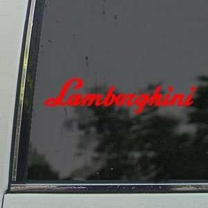 Lamborghini Red Decal Logo Bull Car Truck Window Red