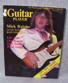 GUITAR PLAYER MAGAZINE   SEPTEMBER 1979 (MICK RALPHS)
