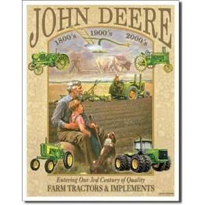 John Deere 3rd Century Tin Sign Desperate Enterprises