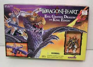 DRAGONHEART Evil Griffin Dragon & King Einon from KENNER.