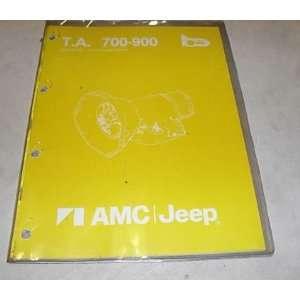 1983 AMC Jeep 700/900 Transmission Service Shop Manual jeep Books