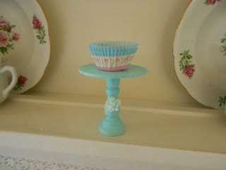 cottage Chic Aqua with Ashwell rose wood cupcake stand simply sweet