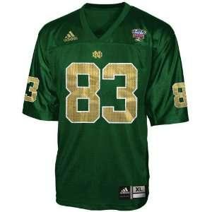 adidas Notre Dame Fighting Irish #83 Green 2007 Sugar Bowl