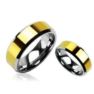 Tungsten Carbide Ring Wedding Band with Beveled Edges Size 9 Jewelry