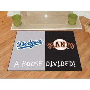 Los Angeles Dodgers MLB   San Francisco Giants House Divided Rugs 34