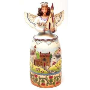 Enesco Jim Shore Angel Church Blessed Are The Faithful