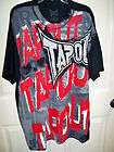 NEW WT MENS MMA RED TAPOUT TEE SHIRT SZ NICE L
