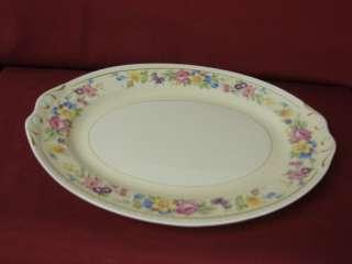 Homer Laughlin China Dinnerware Eggshell Georgian Rose Lane Oval Serv