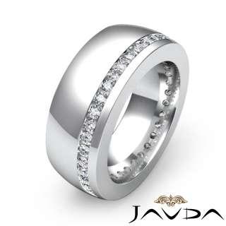 Diamond New Ring Men Wedding Band 14k White Gold s11