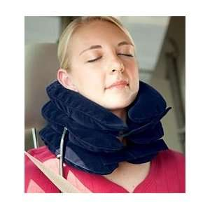 Inflatable Travel Pillow With Hand Pump