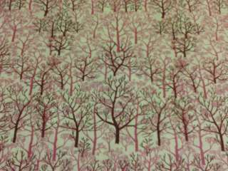 Tree Trees Forrest Nature Pink Print Cotton Fabric OOP