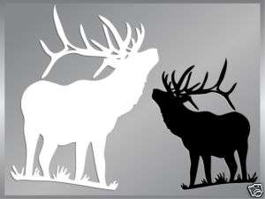 ELK Silhouette #1 Deer Hunting cut vinyl decal up to 6
