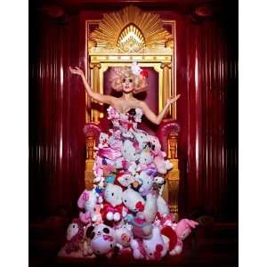Lady Gaga Hello Kitty wearing dress made of Kittys Collectible Poster