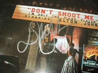 ELTON JOHN Dont Shoot Me AUTO Signed LP Album COA