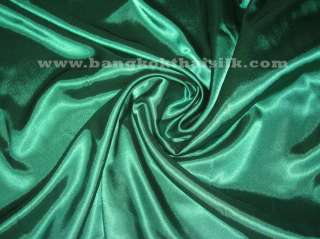 EMERALD GREEN SATIN FABRIC BRIDES DRESS FORMAL 60 BTY