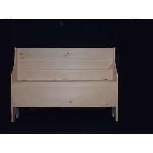 Unfinished Pine Shaker Bench w/Storage Baby