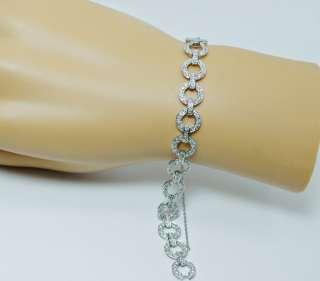 50ct VS GH 220 Diamond Estate Bracelet 18K White Gold Estate Jewelry