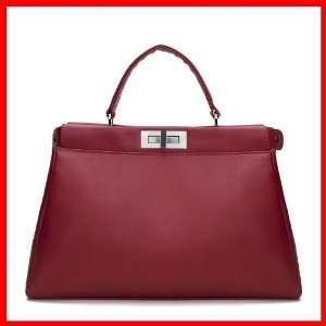 Genuine Leather Purse Shoulder Bag Handbag Satchel Briefcase Women
