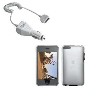 Clear Hard Case / Cover / Shell & Car Charger for Apple