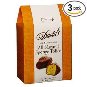 Davids Fine Belgian Chocolate Enrobed Milk Chocolate Sponge Toffee