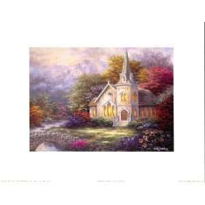 Serenity Church by Nicky Boehme print Home & Kitchen