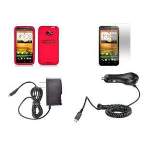 HTC EVO 4G LTE (Sprint) Premium Combo Pack   Red Silicone