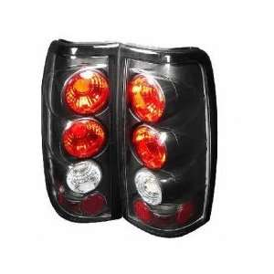 03+ Chevy/GMC Silverado Euro Tail Lights   JDM Black