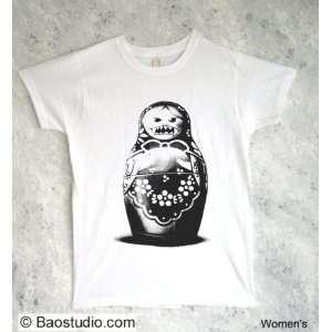 Evil Matryoshka Doll   Pop Art Graphic T shirt (Womens X