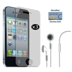 for apple iPhone 4. Includes High Quality Handsfree Earphones with Mic
