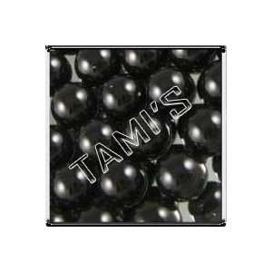 50 SWAROVSKI Crystal Faux PEARLS BLACK 8mm Everything