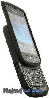 BLACK RUBBERIZED HARD CASE + BELT CLIP HOLSTER FOR BLACKBERRY TORCH