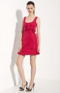 595*** RED VALENTINO RUFFLE HEM FAILLE DRESS SIZE 40
