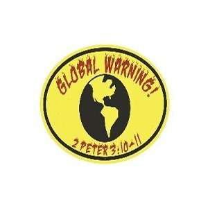 Euro Sticker Global Warning 2 Peter 310 11 Pack of 6
