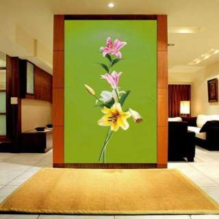 Flowers Adhesive Removable Wall Decor Accents Stickers & Decals Vinyl