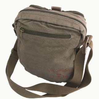 NEW Vintage Mens Leather Canvas Durable Casual Messenger Shoulder Bag