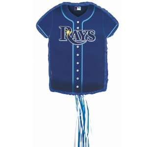 OTTA PINATA Tampa Bay Rays Baseball   Shirt Shaped Pull String Pinata