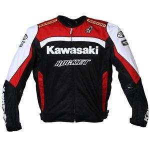 Joe Rocket Kawasaki Replica Mesh Jacket   2X Large/Red