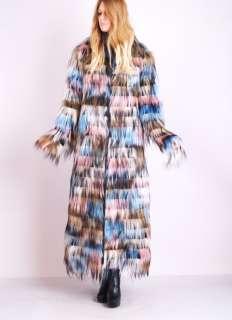 MONKEY FUR Shaggy Fox Feathered COUTURE Dress Jacket RUNWAY COAT