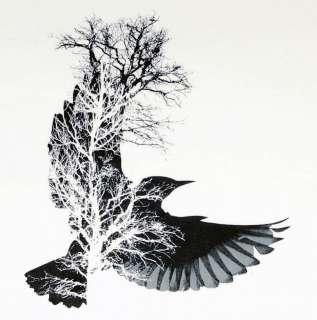 Fashion T Shirt New Tree Bird Indie banksy Graffiti L