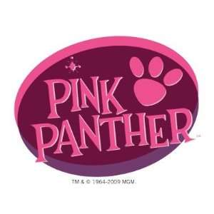 Pink Panther Paw Print in Wine and Pink Sticker