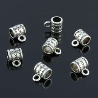 Kf395*40PC Tibetan Silver Bail Spacer Charm Beads Findings Fit