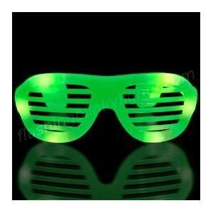 Green LED Hip Hop Fashion Celebrity Sunglasses and Special