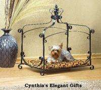 Royal Wrought Iron Pet Canopy Bed Small Dog Cat Pup Bed