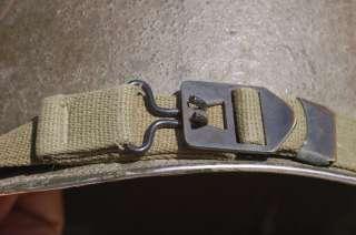 US WWII M1 EARLY COMBAT STEEL POT HELMET FIXED BALES HAWLEY FIBRE